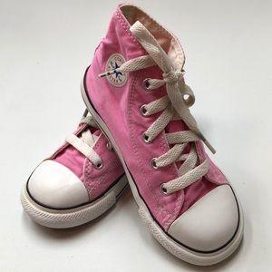 Converse Chuck Taylor Pink Toddler Hi Tops